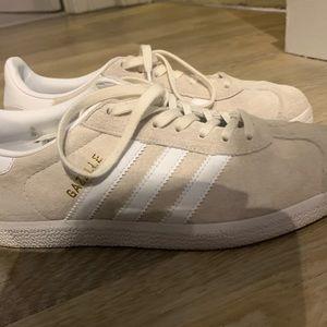 Adidas Cream and Beige Gazelle Sneakers